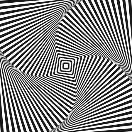trickery: Optical illusion art square vector background for your design Illustration