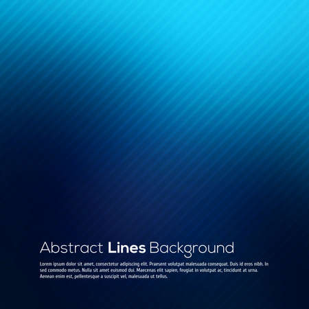 Blue abstract lines business vector background for your design