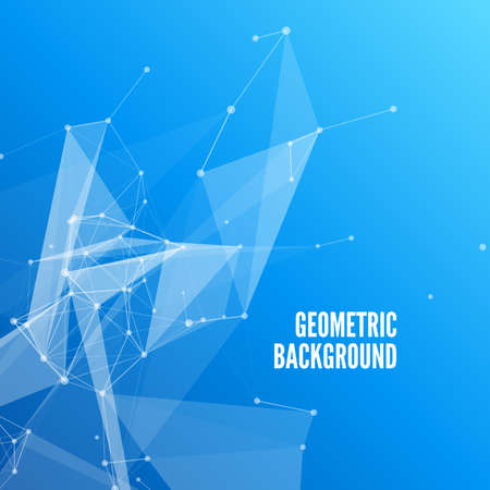 3D Blue Abstract Mesh Background with Circles, Lines and Shapes Design Layout for Your Business Design