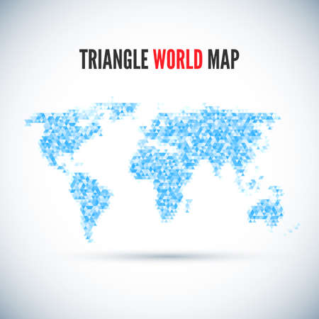 color separation: Triangle Map abstract isolated on a white backgrounds for your design