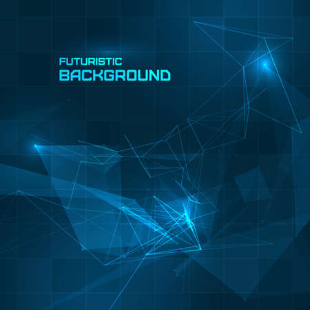 high detail: Futuristic HUD background for your design Illustration