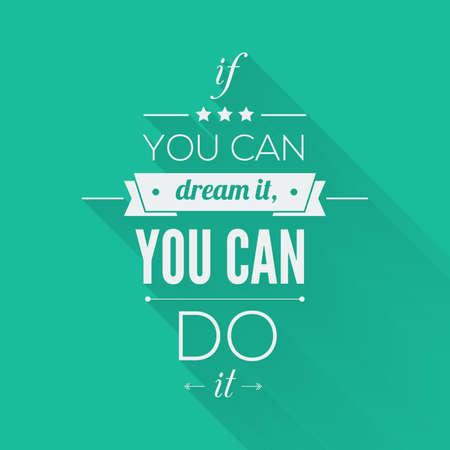 you can: Puedes hacerlo Cita tipográfico Poster, Vector Design. Cita de motivación inspirada por el art.