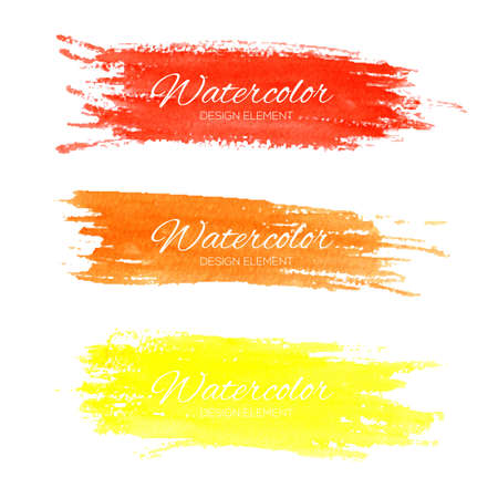 Colorful vector watercolor brush strokes for your design