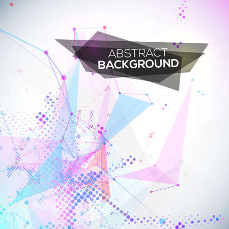 Abstract geometric lines modern grunge background Vector