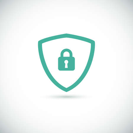 Web security icon shield for your design. Vector