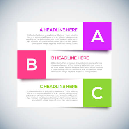 advertising template: 3D Modern infographics Design Layout with shadow.