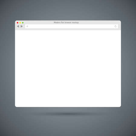 internet browser: Simple flat browser window on dark background.