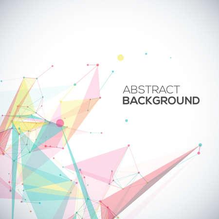 fondo geometrico: Vector de fondo abstracto geom�trico con formas abstractas poligonales, con c�rculos, l�neas, tri�ngulos Vectores