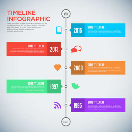 time table: Modern timeline design template. Timeline Infographic. Vector design template.