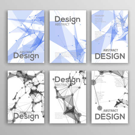 Brochure Design Templates. Geometric Triangular Abstract Modern Backgrounds. 矢量图像