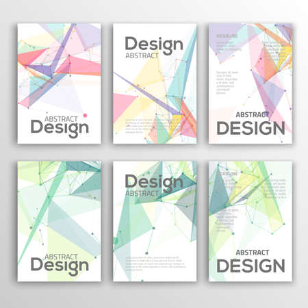 web site design template: Brochure Design Templates. Geometric Triangular Abstract Modern Backgrounds. Illustration