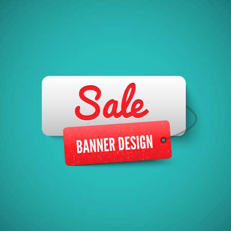 3D-banner van de verkoop-tag. Verkoop Labels Stock Illustratie