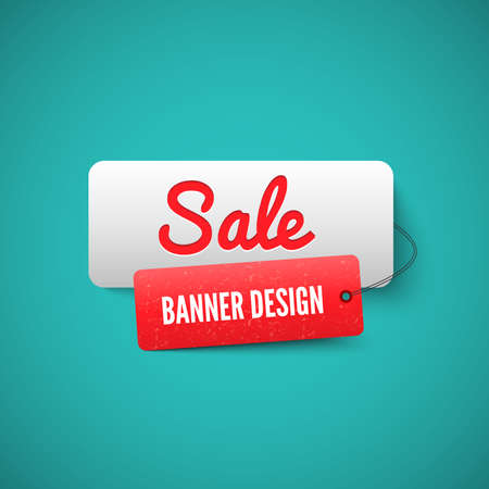 sale sign: 3D Sale banner tag. Sale Labels