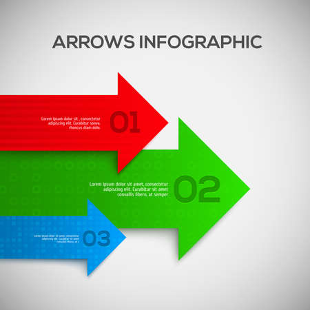 two arrows: 3D Infographic with arrows. Vector illustration Illustration