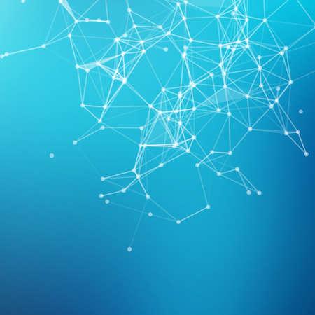 conectar: Fondo geométrico abstracto. Conectar los puntos con líneas para su diseño