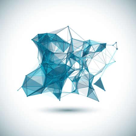 molecula: Los datos vectoriales fondo la ciencia. Vector de fondo poligonal. Mol�cula Y Fondo Comunicaci�n.
