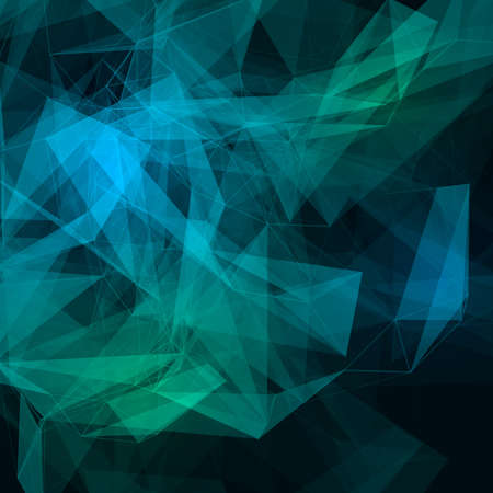 Abstract low poly dark bright technology vector background. Connection structure. Vector data science background. Polygonal vector background.