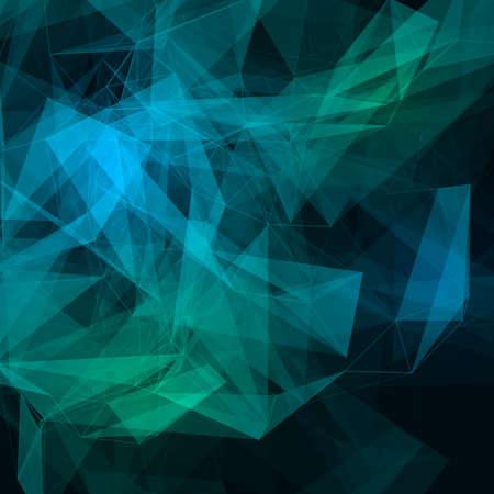 molecula: Baja poli oscuro vector Fondo abstracto de tecnolog�a brillante. Estructura de conexi�n. Los datos vectoriales fondo la ciencia. Vector de fondo poligonal. Vectores