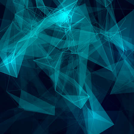 molecular science: Abstract low poly grey bright technology vector background. Connection structure. Vector data science background. Polygonal vector background.