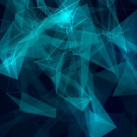 Abstracte laag poly grijze lichte technologie vector achtergrond. Verbindingsstructuur. Vector data science achtergrond. Veelhoekige vector achtergrond.