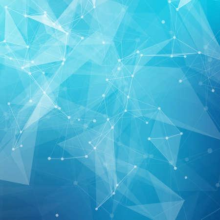 molecula: Bajo poli gris tecnolog�a brillante vector abstracto del fondo. Estructura de conexi�n. Los datos vectoriales fondo la ciencia. Vector de fondo poligonal.
