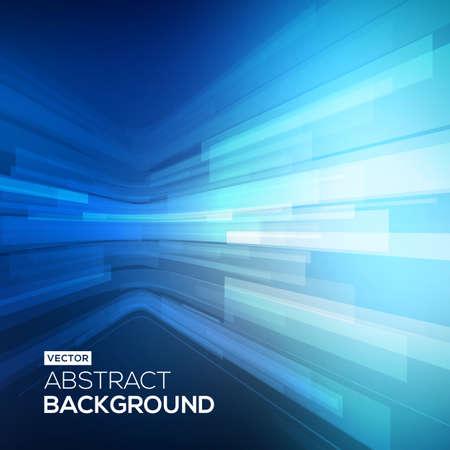 Abstract geometrica blu. 3D prospettiva sfondo Vettoriali