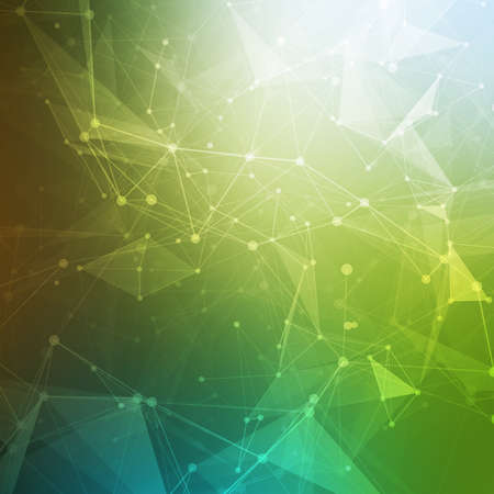 Abstract polygonal low poly dark background with connecting dots and lines. Connection structure. Vector science background. Polygonal vector background.