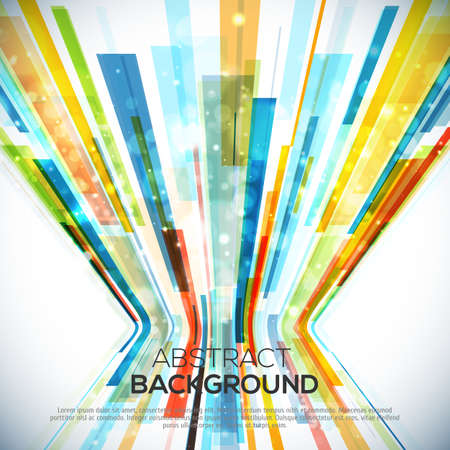 3D Perspective Abstract bright colorful background with lights
