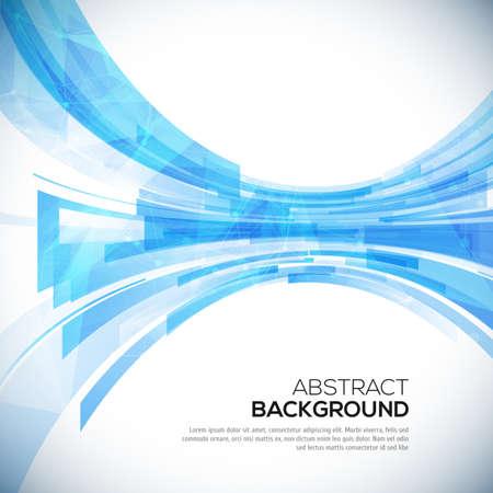 Negocio de fondo azul abstracto para su diseño