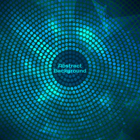 Glowing vector disco background. Mosaic with light reflections. Vector 일러스트