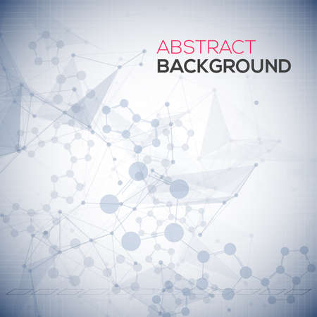 Abstract polygonal low poly background with connecting dots and lines. Connection structure. Vector science background. Polygonal vector background. Ilustrace