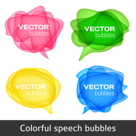 bubles: Abstract shape design. Colorful spech bubles set. Set of round colorful vector shapes. Abstract vector banners.