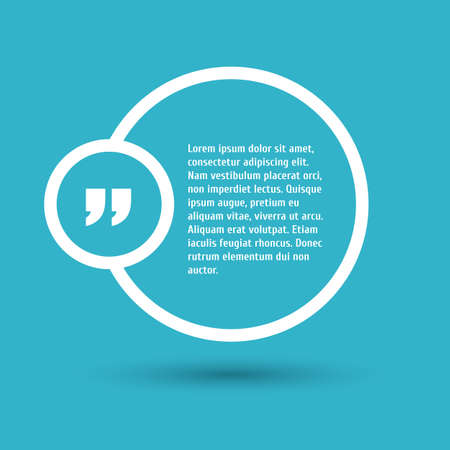 bubble background: Quote modern template on background. Illustration