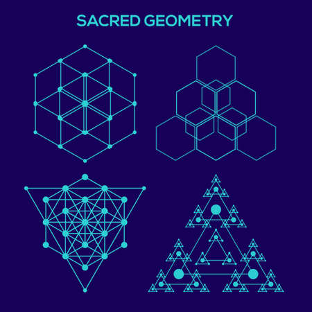 Sacred geometry. Hipster symbols and elements. Abstract Geometric Patterns with Hipster Style.