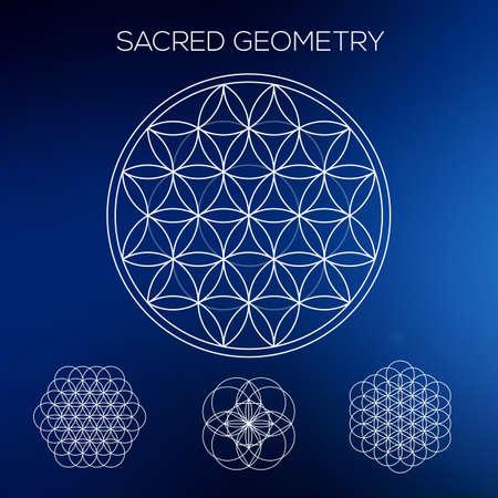 geometría: Geometría sagrada. Hipster símbolos y elementos. Los patrones geométricos abstractos con talle bajo estilo.