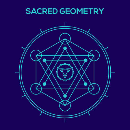 hexagon: Sacred geometry. Hipster symbols and elements. Abstract Geometric Patterns with Hipster Style.