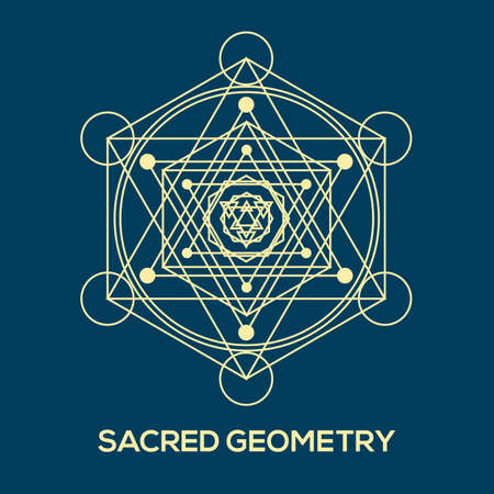 pentagram: Sacred geometry. Hipster symbols and elements. Abstract Geometric Patterns with Hipster Style.