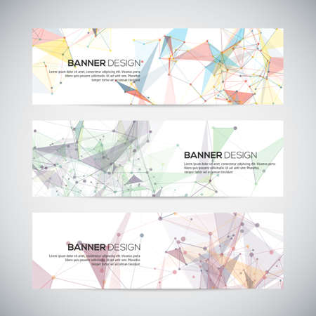 colorful background: Abstract geometric banner design. Geometric backgrounds.