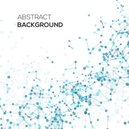 diagonal: Abstract line background with circles. Vector design