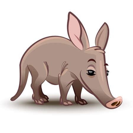 aardvark: Aardvark illustration. A cartoon illustration of a aardvark.
