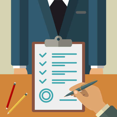 business agreement: Business agreement concept illustration. Vector flat agreement illustration for your design Illustration
