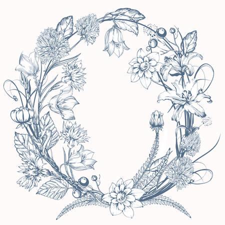 Vintage elegant flowers. Flower vector illustration concept for wedding card or invitations. Botany vector.