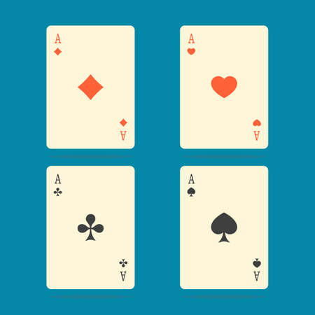 aces: Aces Playing Cards. Set of illustration of ace playing cards. Illustration