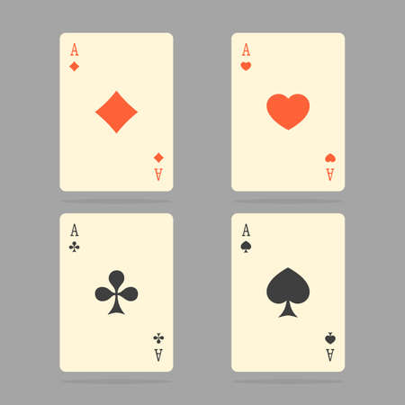 ace of spades: Aces Playing Cards. Set of illustration of ace playing cards. Illustration