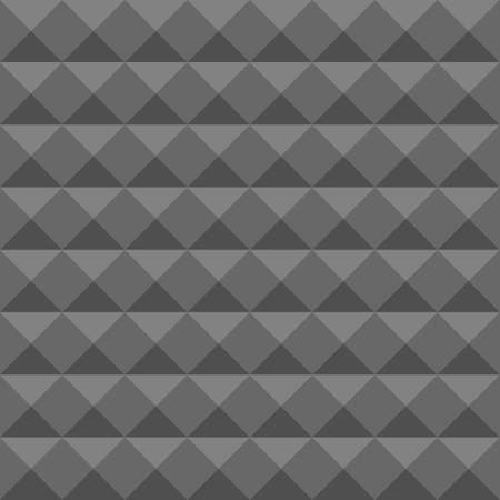 acoustical: Acoustic foam wall, soundproofing. Seamless geometric pattern. Illustration