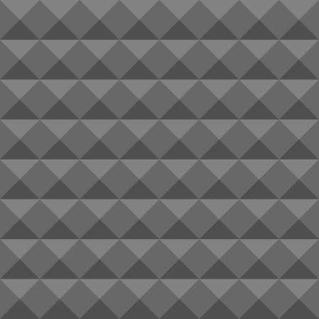 noiseless: Acoustic foam wall, soundproofing. Seamless geometric pattern. Illustration