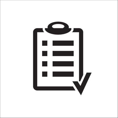 アクション プランは、白い背景の上のアイコンのデザインをクリップボード。委員会目標チェック リスト アイコン。