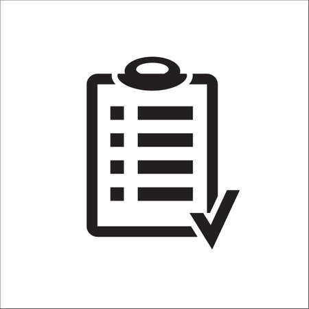 Action plan clipboard icon design over a white background. Board goal check list icon. Illustration