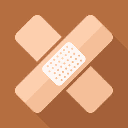 adhesive plaster: Adhesive plaster icon. Adhesive medical bandage icon Illustration
