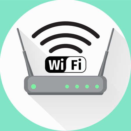 Routeur sans fil icône web Vecteurs
